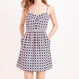 NWT J. Crew Printed Seaside Cami Dress sz. 6